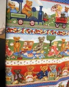 Tessuto americano ideale per patchwork, quilt e cucito creativo per bambini, realizzato in cotone 100% in altezza di cm 110.