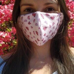 mascherina in tessuto cotone americano 100% con filtro