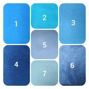 pannolenci blu 90 x 50 cm.