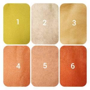 pannolenci giallo/arancio 90 x 50 cm.