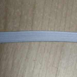 elastico piatto bianco 5mm