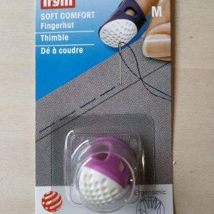 Ditale per sarti ergonomico in plastica colorata con fessura di aerazione. Diametro 16mm