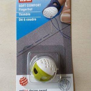 Ditale per sarti ergonomico in plastica colorata con fessura di aerazione. Diametro 18 mm