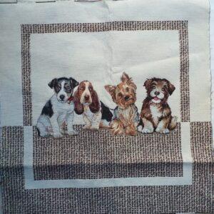 """Gobelin piazzato """"cani""""."""