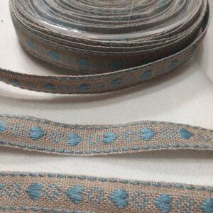 "Passamaneria ""cuori azzurri"" 10 mm"