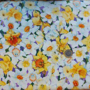 Tessuto americano ideale per patchwork, quilt e cucito creativo realizzato in cotone 100% in altezza di cm 110.