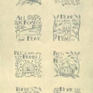 """Pannello in cotone 100% americano della collezione """"Home"""". Ideale per patchwork, quilt e lavori di cucito creativo."""